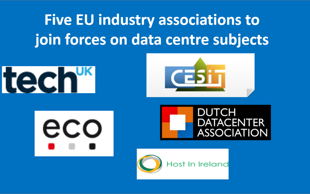 Five EU industry associations to join forces on data centre subjects